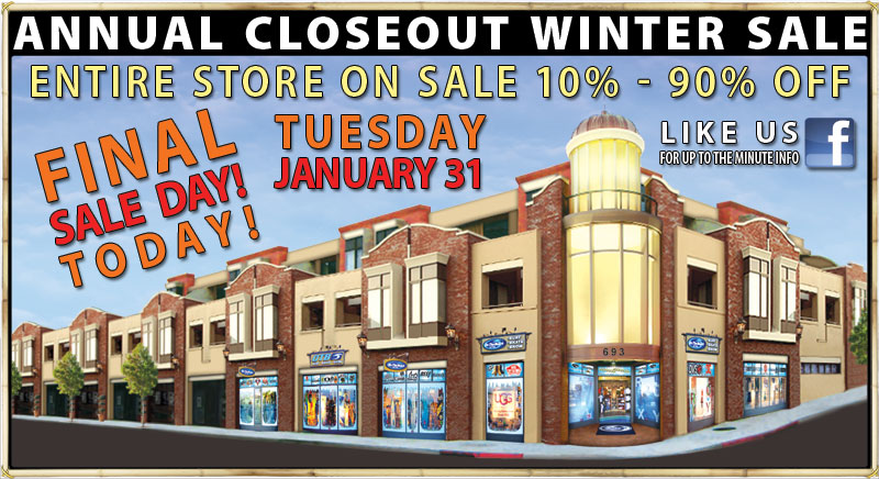 OTB ANNUAL CLOSEOUT WINTER SALE